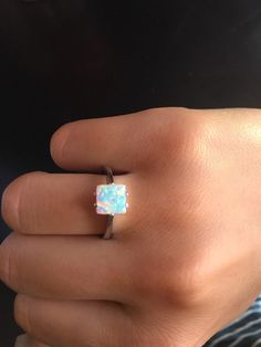 Opal Ring Silver Opal Ring Silver Ring 925 sterling by Ideesdemode