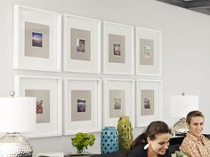 This wall art is made up of Instagram photos framed with fabric matting. So cool #hgtvmagazine http://www.hgtv.com/decorating-basics/how-home-improvement-bloggers-live/pictures/page-8.html?soc=pinterest