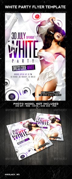 White Party Flyer Template PSD   Buy and Download: http://graphicriver.net/item/white-party-flyer/8166712?WT.ac=category_thumb&WT.z_author=Nikolaev_ws&ref=ksioks