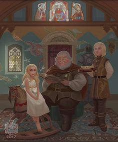 Daenerys & Viserys - Artwork by Raymond Terutama, @raymondwaskita - instagram