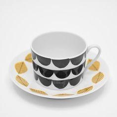 Fine Little Day - 2-PACK KOPPAR OCH KAFFEFAT MIX Cup And Saucer, Tea Time, Tea Cups, Ceramics, Mugs, Coffee, Tableware, Kitchen, Arbour