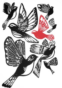 Emily Hogarth - birds - ink inspiration