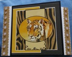 """Tiger image from Pollyanna Pickering C6 gatefold card """"A Walk in the Wild"""""""