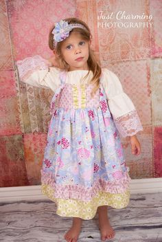 Spring Knot Dress Boho Mauve Girls Toddler by CharmingNecessities