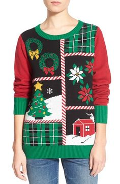 ugly christmas sweater vintage 80s frosty snowman santa puff paint ...