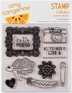 American Crafts Amy Tangerine Lovestruck Clear Stamps | eBay