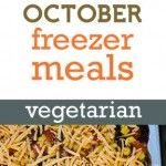 Freezer cooking menus for those wanting a vegetarian lifestlye. No fake meats, just lots of clean eating!