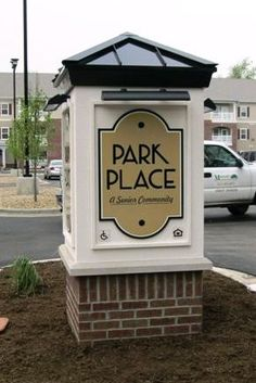 Lighted Monument Sign for Park Place Apartments
