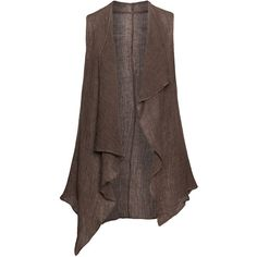 Isolde Roth Linen sleeveless cardigan in Brown / Mottled Plus Size Summer Tops, Plus Size Tops, Long Kurtas, Sleeveless Cardigan, Sleeveless Tops, Denim Top, Cycling Outfit, Sandro, Sewing Clothes
