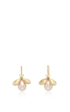 Jeweled bug pearl earrings by ANNETTE FERDINANDSEN for Preorder on Moda Operandi