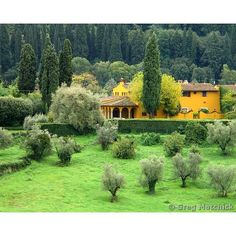 Fine Art Color Landscape Photography of Tuscany  door GregsFineArt