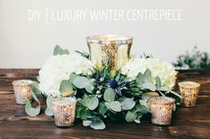 A Floral DIY Tutorial Showing You How To Create A Luxury Winter Table Centrepiece