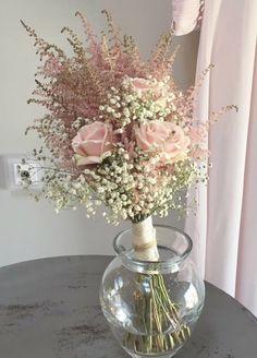 Astilbes, rosas y paniculata Bridal bouquet Astilbe Bouquet, Hydrangea Bouquet Wedding, Anemone Bouquet, Dusty Rose Wedding, Pink Bouquet, Dried Flower Bouquet, Diy Wedding Flowers, Wedding Bouquets, Crafts