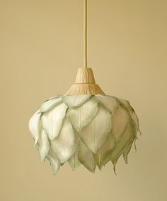 Check out the beautiful flower pendant lights on this site  :::: sachie muramatsu ::::
