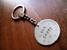 No. 1 daddy key ring... on Etsy, £7.95