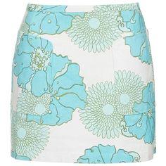Topshop Retro Floral Miniskirt, BLUE MULTI ($35) ❤ liked on Polyvore featuring skirts, mini skirts, short floral skirt, blue mini skirt, a-line skirts, cotton a line skirt and a line mini skirt