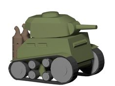 M3A4 Sherman Low Poly From reff