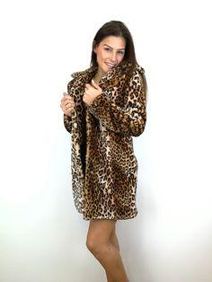 Manteau Leopard Fur Coat, Sweaters, Jackets, Dresses, Fashion, Dress, Tops, Down Jackets, Vestidos