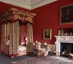 The state bedroom at Clandon Park