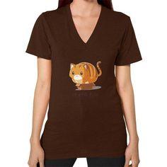 If it fits I sits V-Neck (on woman) Shirt