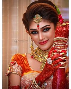 Make over done by me Photography Creation /… Bengali Bridal Makeup, Indian Wedding Makeup, Indian Wedding Bride, Indian Wedding Photos, Indian Bridal Outfits, Wedding Girl, Indian Wedding Couple Photography, Wedding Couple Poses, Bride Photography