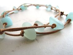 Seaglass Sea Glass Necklace Sea and Sand by BellinaCreations, $70.00