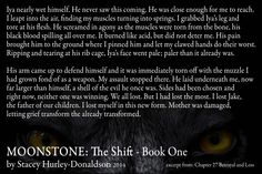 Transformed ... MoonStone: The Shift is for sale at all online book retailers. Amazon.com  Barnesandnoble.com   LuluPublishing.com Paperback and eBook formats available.