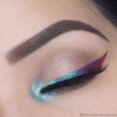 MakeupGeek full spectrum liners in Plumeria, Ocean, Mint, obsidian and Royal