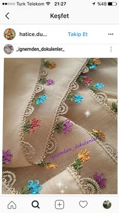Benim orgulerim Needle Tatting, Needle Lace, Crochet Borders, Crochet Lace, Yarn Crafts, Diy And Crafts, Knitting Patterns, Crochet Patterns, Lacemaking