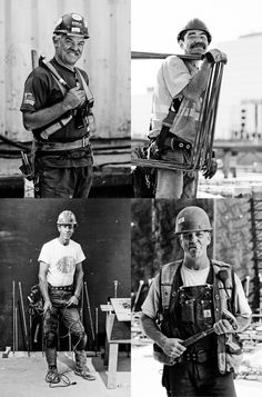 Peter Holst: Portraits of construction workers for Bosa Properties marketing material.