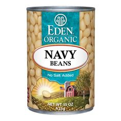 Navy Beans, Organic 15 oz. BPA free lined can. #EdenFoods