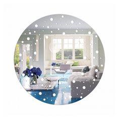 Dizajnové zrkadlo nalepovacie Plates, Tableware, Home, Licence Plates, Dishes, Dinnerware, Griddles, Tablewares, Ad Home