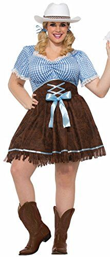 Fashion Bug Womens Plus Size Cowgirl Costume www.fashionbug.us #PlusSize #FashionBug #Costumes #Curvy 1X 2X 3X 4X 5X 6X