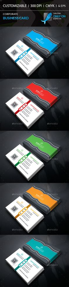 #Corporate #Business Card - Corporate Business #Cards Download here: https://graphicriver.net/item/corporate-business-card/19392448?ref=alena994