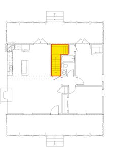 New bedroom layout small chairs ideas Master Bedroom Layout, Bedroom Bed Design, Bedroom Layouts, Large Bedroom, Master Suite, Architectural Design House Plans, Architecture Design, Small Cabin Plans, Rocking Chair Porch