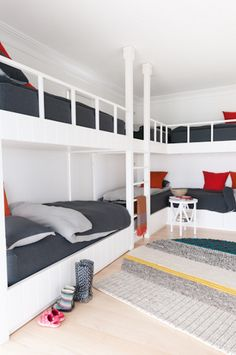 I love the idea of multiple bunk beds in a room for kids or adults! I can see bands stopping in OKC on their way to another town, giving a show at 612 and having a place to stay!