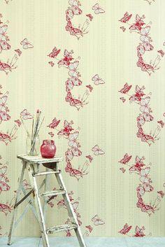 Et supersøtt tapet med sommerfugler, små innsekter og maur. Passer like godt på hytta som på soverommet. Butterfly Wallpaper, Pink Wallpaper, Pattern Wallpaper, Luxury Wallpaper, Animal Wallpaper, Wallpaper Ideas, Custom Wallpaper, Home Decor Bedroom, Living Room Decor