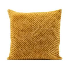 Check out the Mona cotton cushion cover by House Doctor.You will like its curry-tone tint, as well as the graphic rendering of its velvet texture.Info: cotton, polyester / dry cleaning Product Information:Material: cottonDimensions: H 50 x W 50 cmWeight: