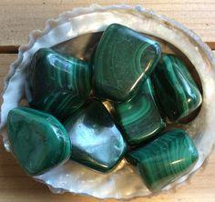 Malachite Medium Large Tumbled Stone Healing by SoulswithHeart