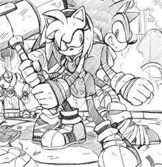 Sonic and Amy BOOM :3 this is so beautiful, I love this.<<Yes!! SonAmy!!