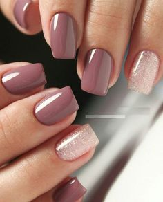 Pin by Lisa Firle on Nageldesign - Nail Art - Nagellack - Nail Polish - Nailart - Nails Stylish Nails, Trendy Nails, Cute Nails, My Nails, Nails Today, Cute Fall Nails, Sns Dip Nails, Acrylic Dip Nails, Dark Nails