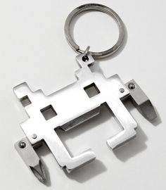 Space Invader - Would make a Good - Lapel Pin (Silver), Money Clip (Steel), Bottle Opener (Metal)