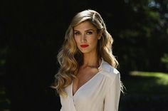 Delta Goodrem pinned wedding hair