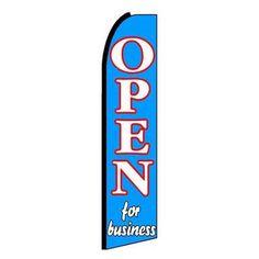 NeoPlex Open For Business Swooper Flag