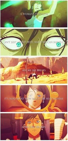 ...and all Korra did was be determined after she was broken. #LOK #Determination #GirlPower