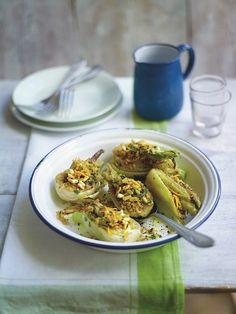 Jeudi Veggie, EVA ::: Fenouil avec farce orange-olive #vegan #végétarien