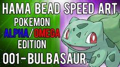 Pokemon | Alpha/Omega | Hama Bead Speed Art | Timelapse | 001 - Bulbasaur