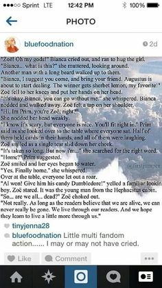 "This...just...im crying now >>> ""Not really. As long as the readers believe we are alive, we will never be really gone."" No... I deny the tears in my face!!>> It's just, just, just, so beautiful!!!!"