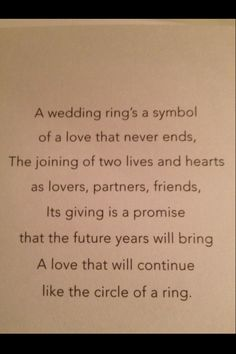 something very similar was said at our vow renewal wedding sayingswedding poemswedding