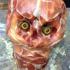 Essbare Fleischmaske zu Halloween #Essen